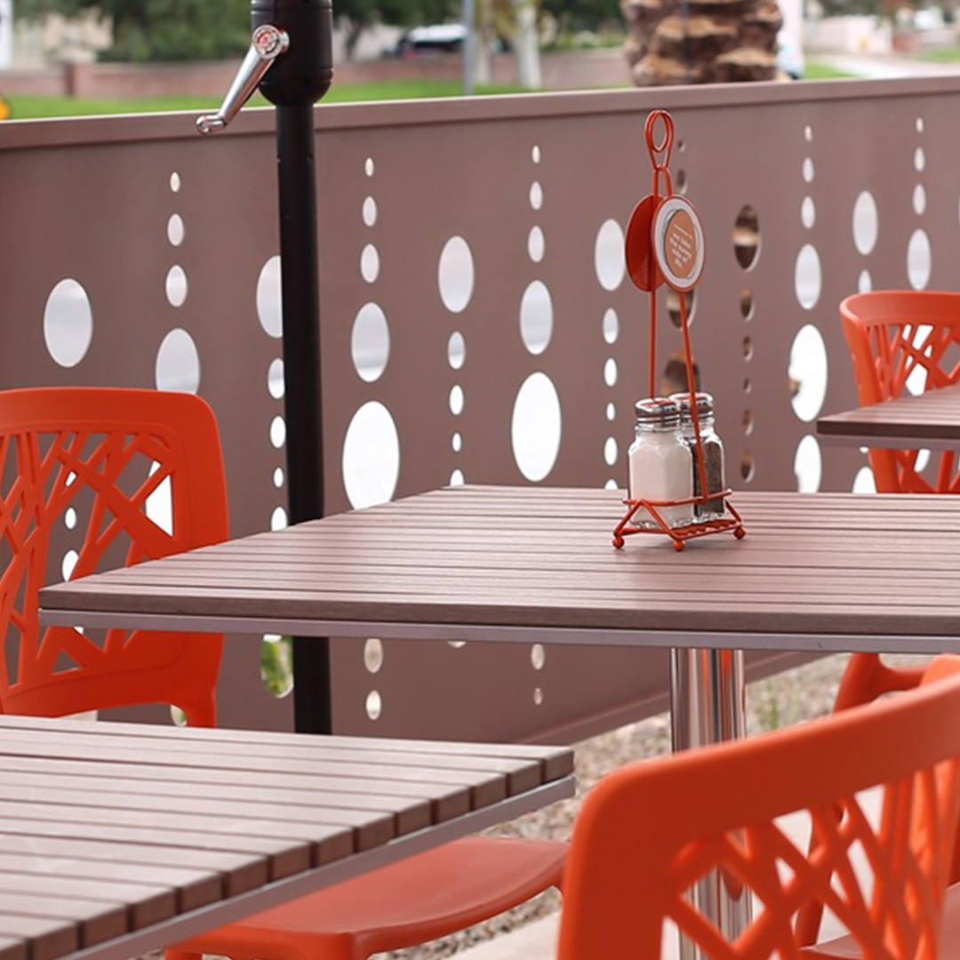 Decorative Fence Panels | Scramble, A Breakfast & Lunch Joint