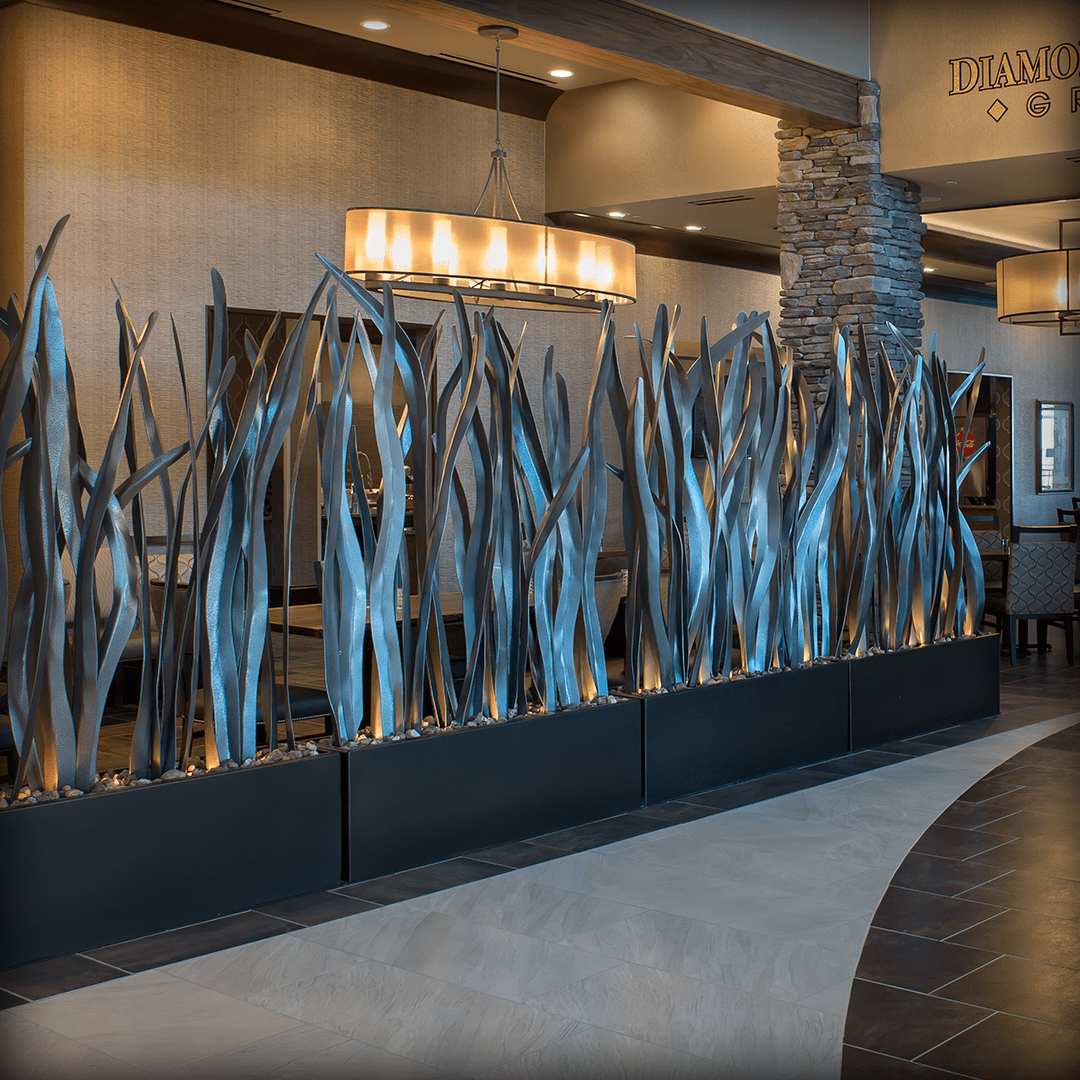 Metal Reed Sculpture- Hilton Sarasota Springs