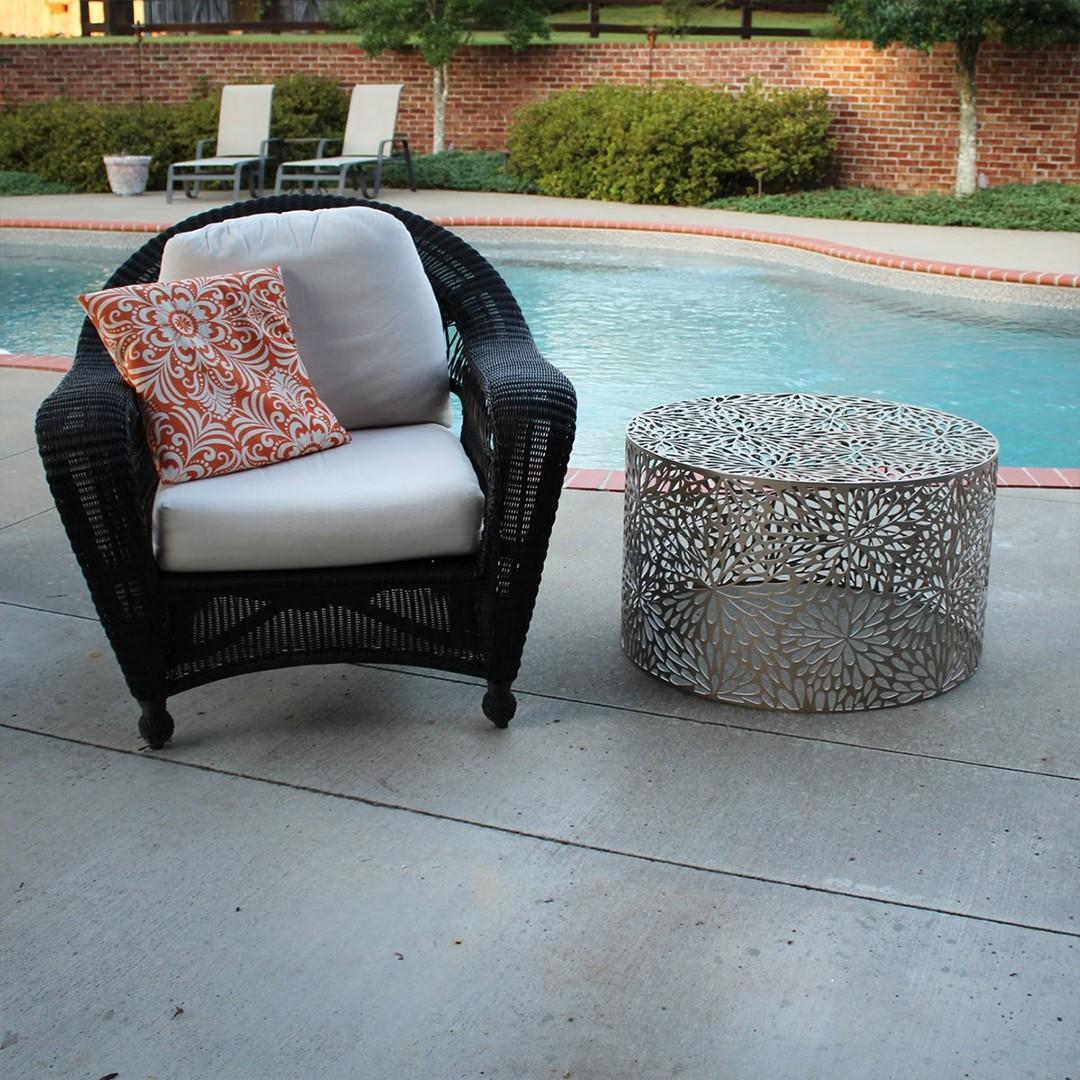 Laser Cut Metal Outdoor Tables